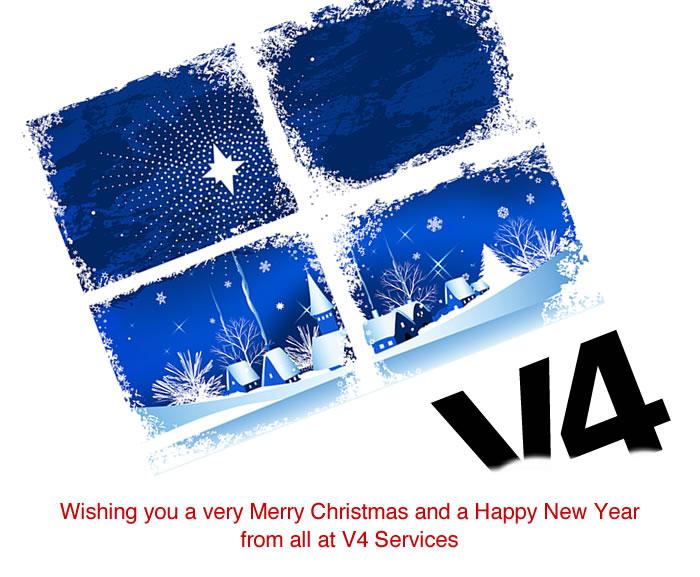 V4 Services Christmas E-card